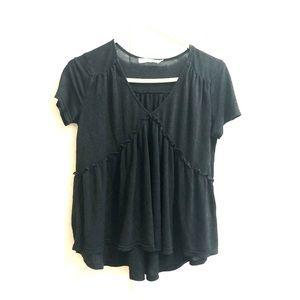 Paper Crane   Ruffle Detail Baby Doll T-Shirt